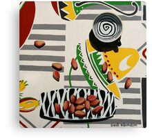 Swirly Cup and Pistachio Nuts Canvas Print