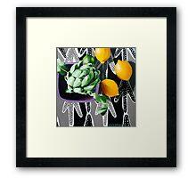 Actichoke, Lemons and Lime Framed Print