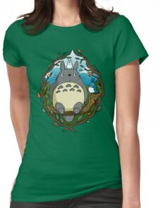 Totoro and friends Womens Fitted T-Shirt