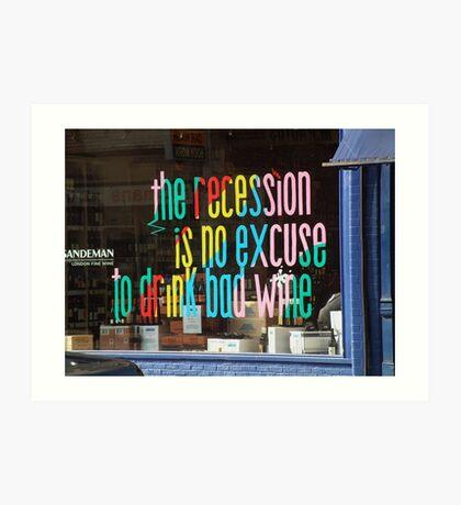 Recession Art Print