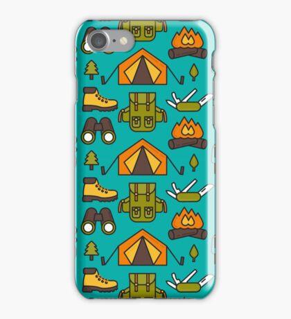 Camping Pattern iPhone Case/Skin