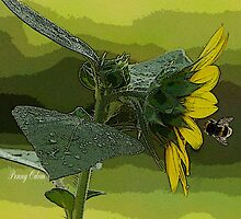 Bumble Bee and Sunflower by Penny Odom