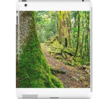Forest trees covered with moss and dew iPad Case/Skin