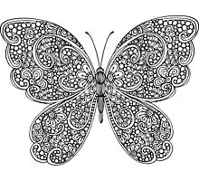 Hand drawn butterfly print Photographic Print