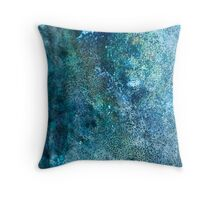 Abstract blue scales Throw Pillow