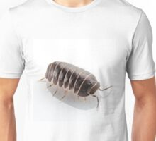 Pill-bug armadillidium vulgare species isolated on white background Unisex T-Shirt