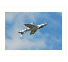 Hawker Hunter jet inverted Art Print