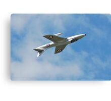 Hawker Hunter jet inverted Canvas Print