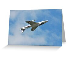 Hawker Hunter jet inverted Greeting Card