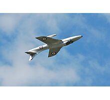 Hawker Hunter jet inverted Photographic Print