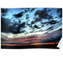 Sunset Over looking Bath from Bowden Hill Poster