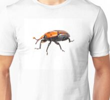 red palm weevil isolated on white background Unisex T-Shirt