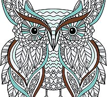 Hand drawn doodle owl by lenkisart