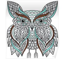 Hand drawn doodle owl Poster