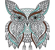 Hand drawn doodle owl Photographic Print