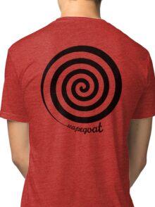 Scapegoat - Black Graphic Tri-blend T-Shirt