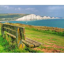 Bench and Seven Sisters - HDR  Photographic Print