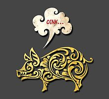 Golden pig decoration by tsign703