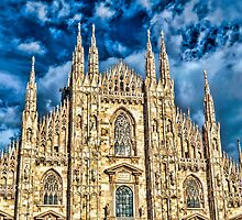 Facade of Cathedral Duomo in Milan by Ingvar Bjork Photography