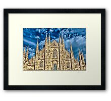 Facade of Cathedral Duomo in Milan Framed Print