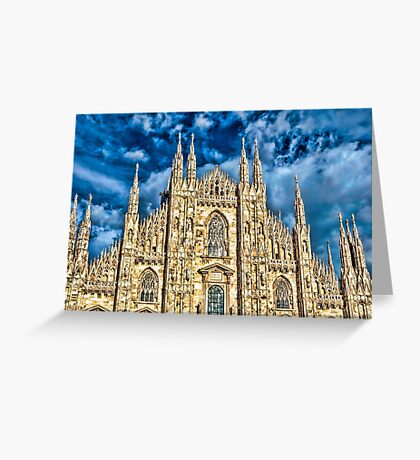 Facade of Cathedral Duomo in Milan Greeting Card
