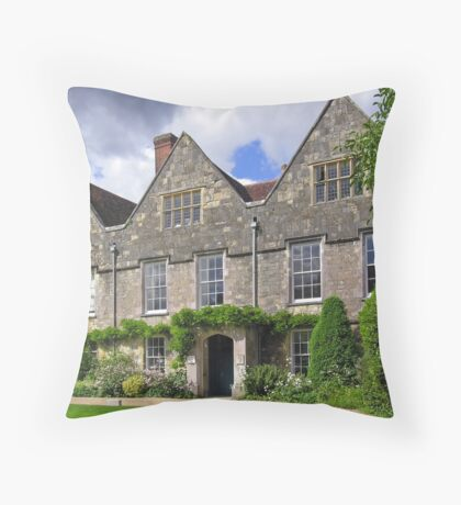 No 9, Winchester Cathedral Close, southern England Throw Pillow