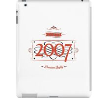 Since 2007 (Red&Black) iPad Case/Skin