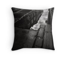 Reflections on reflections of history Throw Pillow