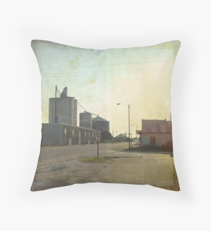 small town Throw Pillow