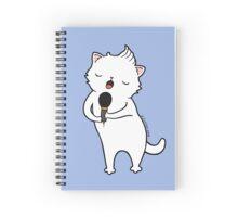 karaoke Cat Spiral Notebook