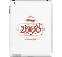 Since 2008 (Red&Black) iPad Case/Skin