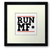 RUN MF* Framed Print