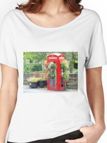 Telephone Box - Spofforth - North Yorkshire Women's Relaxed Fit T-Shirt