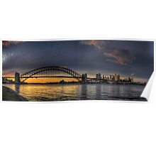 Lipstick - Sydney Harbour, Sydney (25 Exposure HDR Panorama) - The HDR Experience Poster
