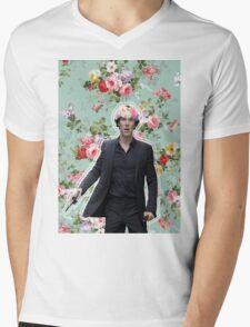 Flowercrowned Sherlock Mens V-Neck T-Shirt