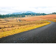 Road out in the country Photographic Print