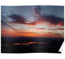 Sunset over Lake Burley Griffin Poster