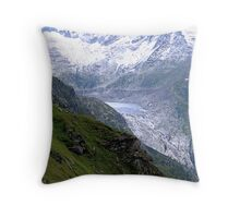A Glacier Is Fading Away Throw Pillow