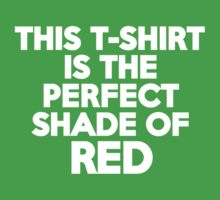 This t-shirt is the perfect shade of red by onebaretree