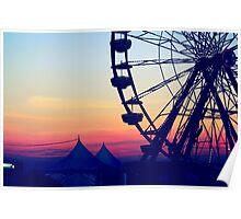 Ferris Wheel Digital Edit Poster