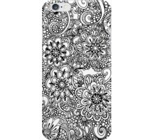Hand drawn floral ornaments iPhone Case/Skin