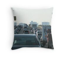 Boston Rush Hour Throw Pillow