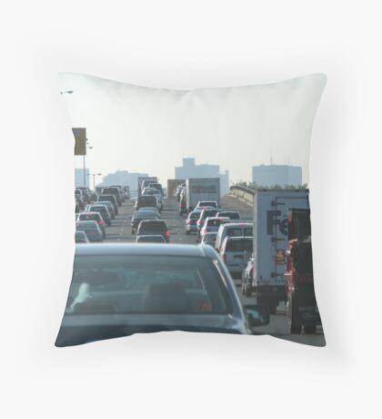 Boston Rush Hour Throw Pillow