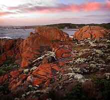 Half Moon Bay - King Island - Tasmania by Adrian Tusek