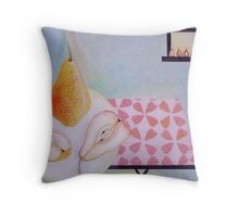 Ripening pears Throw Pillow