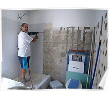 Bathroom Renovation Poster