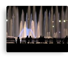 Fountains and Silhouettes Canvas Print