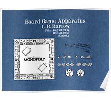 Monopoly Patent Art Board Game Apparatus Poster