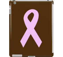 Light Pink Ribbon on Brown iPad Case/Skin