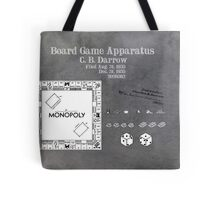 Monopoly Patent Art Board Game Apparatus Tote Bag